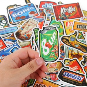 Image 4 - TD ZW 50Pcs/Lot Funny Brand Snacks And Drinks Graffiti Stickers For Laptop Car Pad Luggage Phone Bicycle Decal Toy Sticker