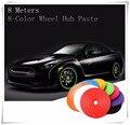 8m car styling Tire Rim care protect Hub Wheel Sticker strip For Fiat Punto evo abarth 500L Cult Bravo Croma Panda accessories