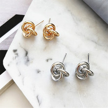 Geometric earring polishing earrings temperament lady fashion decoration Delicate metal big jewelry wholesale