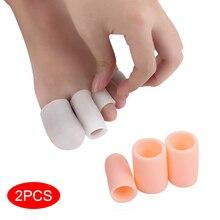 2 шт./компл. пальцев на руках и ногах протектор защитный чехол для силиконового геля Кепки боли в спине, предотвращая появление мозолей натоптыши, инструменты для ногтей, забота о ногах, разделители для пальцев ног
