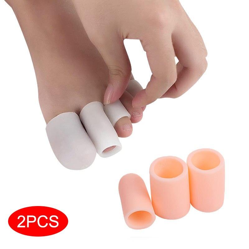 2 шт./компл. протектор для пальцев ног силиконовый гелевый колпачок для снятия боли Предотвращение мозолей инструменты для ногтей Уход за но...