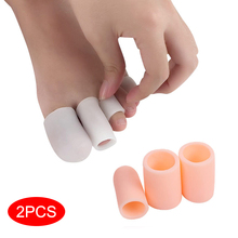 2pcs/set Finger Toe Protector Silicone Gel Cover Cap Pain Relief Preventing Blisters Corns Nail Tools Foot Care Separators