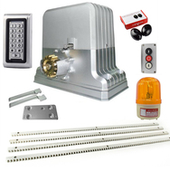 1800kg Electrical sliding gate motor kit gate opener with 6 or 7m steel racks(lamp, photocell, keypad, button optional)