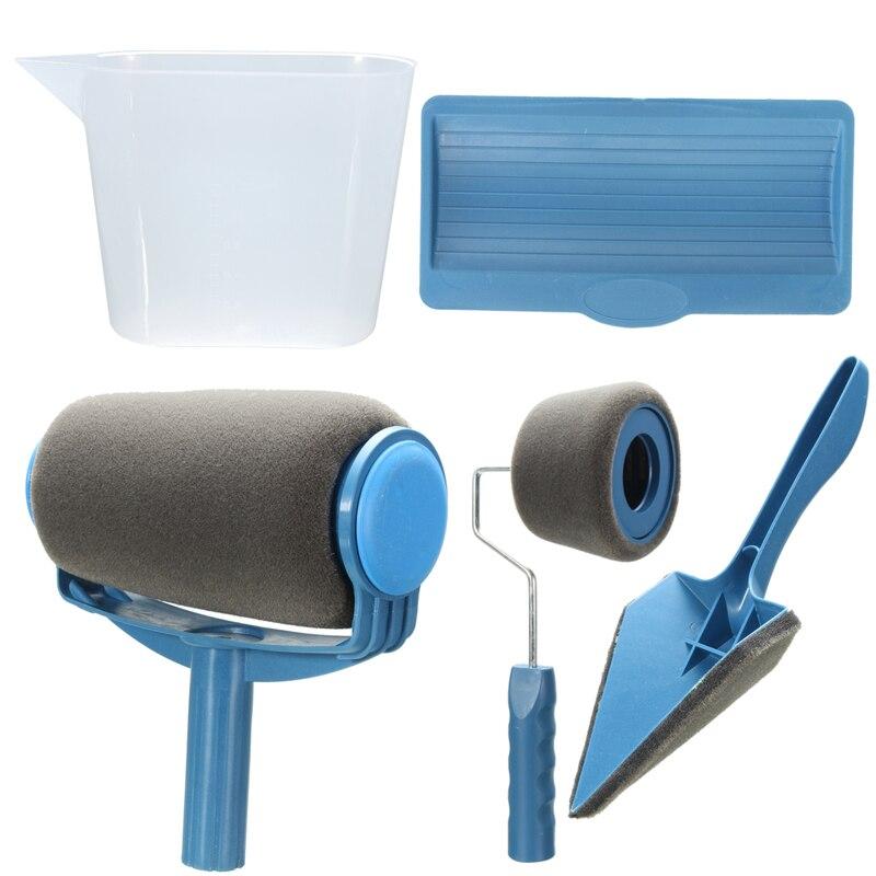 Neue Farbe Runner Pro Roller Pinsel Griff Werkzeug Strömten Edger Büro Zimmer Wand Malerei Home Garten Werkzeug Roller Pinsel set