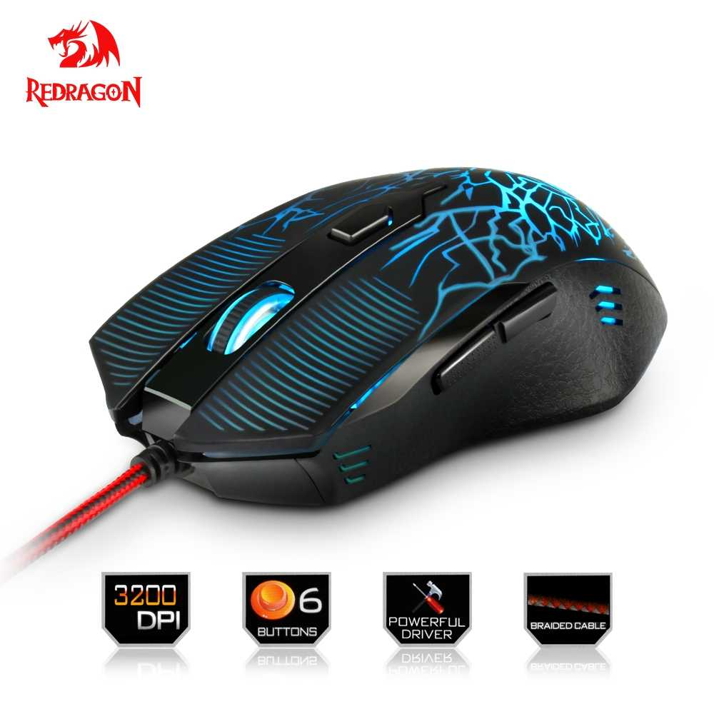 f3867d21446 Redragon high quality USB Gaming Mouse 3200DPI 6 buttons ergonomic design  for desktop computer accessories mice