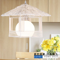 Bamboo Rattan pendant light rustic lamps rattan lamp single cage lights small house lamp pendant lamp zb24