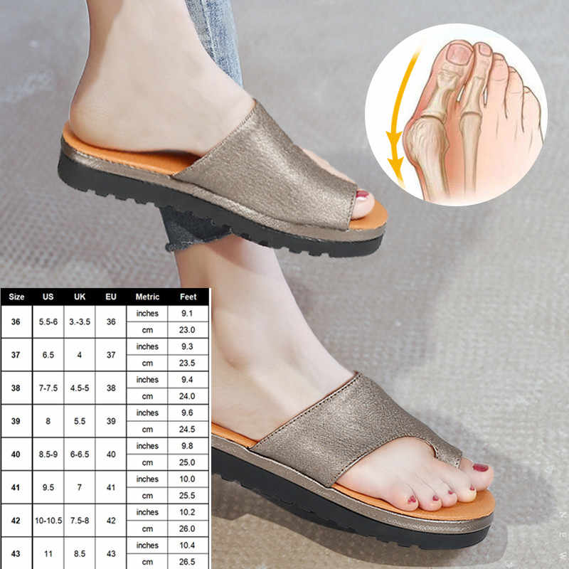 UK 3-8.5 Sizes Toe Correction PU Slippers Comfy Platform Corrective Sandal Shoes Orthopedic for Women/man Summer Foot Care Tool