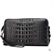 Cestbeau Crocodile Men Clutch Bag Long Men Purse Large Capacity Crocodile Man Bag New Whole Leather