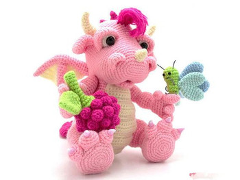 crochet toys  amigurumi dragon  model number b0116