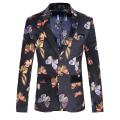 Blazer Men Quality Velveteen Butterfly Pattern Mens Fashion Blazer Casual Slim Fit Mens Floral Blazer Autumn Men's Blazer Jacket