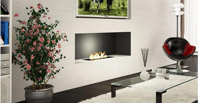 24 Inch Silver Or Black Wifi Real Fire Indoor Auto Intelligent Fireplace Alcohol