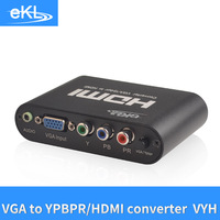 EKL Component VGA/YPBPR TO HDMI video Converter Vga signal input to hdmi signal output