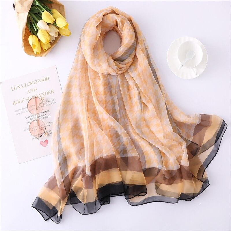 designer brand women 2019 silk   scarf   summer shawls and   wraps   lady shawls and   wraps   pashmina foulard hijabs beach stoles echarpe