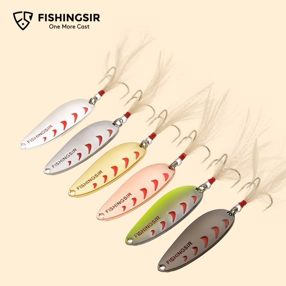 Winter Ice Fishing Lures Artificial Hard Baits Casting Lure for Trout Carp Bass Pike Fishing Spoons Spinner Blade Bait 6pcs/lot
