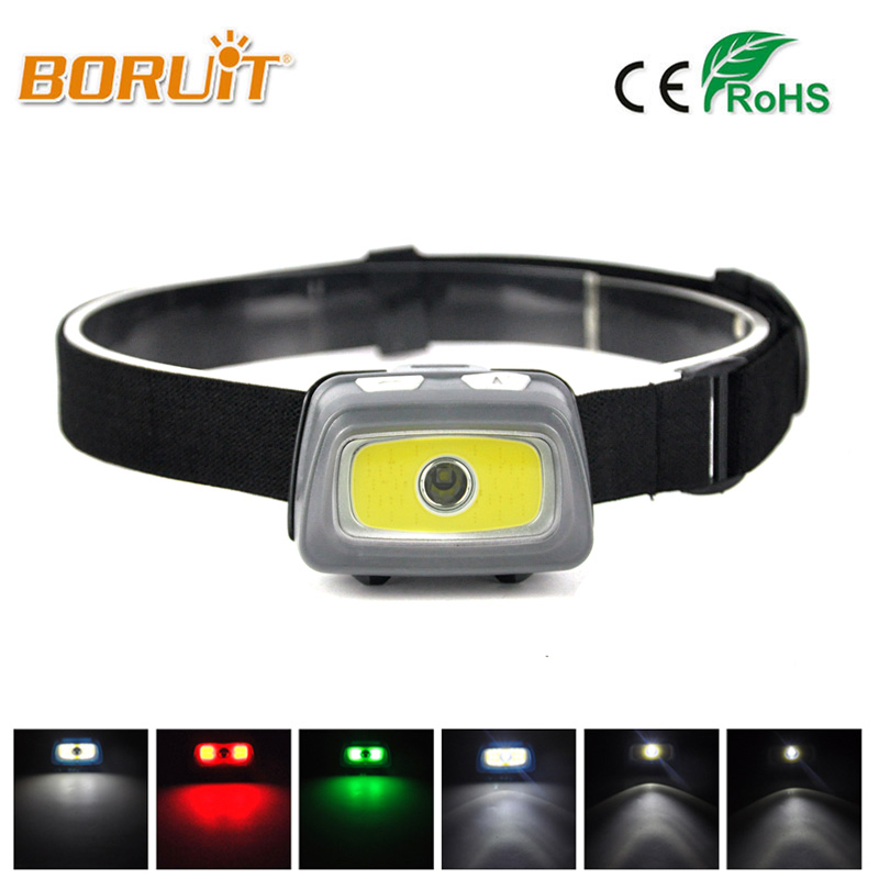 Mini Headlamp 5000 Lumens R5 LED Waterproof AAA Headlight Red Green Head Lamp Light Flashlight Torch +Warning lights+SOS Whistle