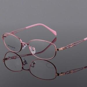 Image 2 - BCLEAR موضة خمر النساء العين إطارات النظارات نظارات سيدة المعادن واضح عدسة النظارات البصرية إطار الإناث الرجعية الكلاسيكية