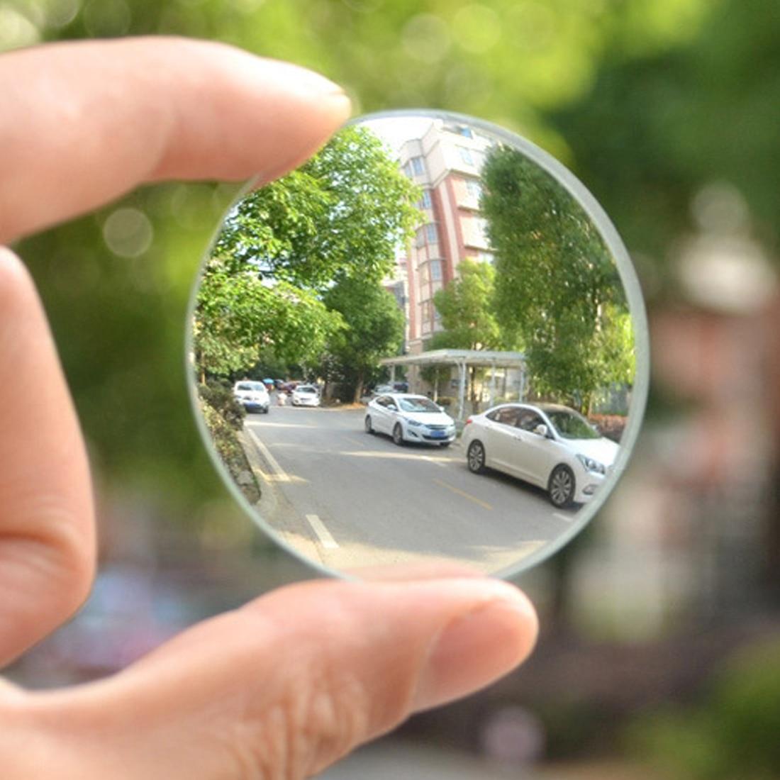 Dewtreetali Car 360 Degree Framless Blind Spot Mirror Wide Angle Round HD Glass Convex Rear View Mirrors 2 Pcs