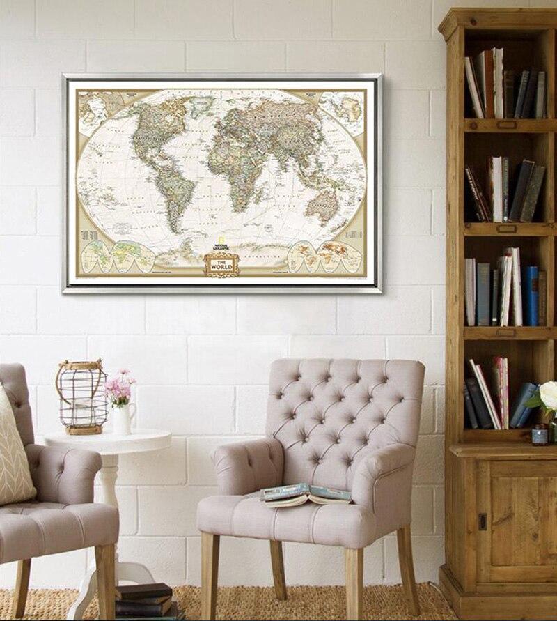 карта мира картина