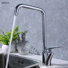 Chrome Plated Brass Hot And Cold Kitchen Sink Faucet Paint Handle Deck Mounted Mixer Water Tap White/Black/Chrome стоимость