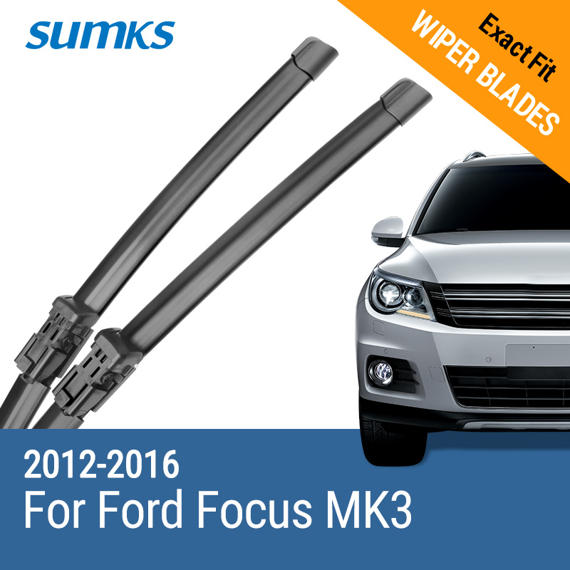 "SUMKS Vindusviskerblader for Ford Focus 28 ""& 28"" Fit trykknapp Arms 2012 2013 2014 2015 2016"