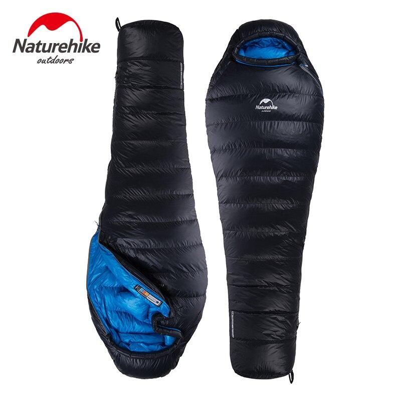 Naturehike Viagem de Acampamento Ao Ar Livre Saco De Dormir de Inverno 400G 800G 1000G Ultraleve Pato para baixo Saco de Dormir Adulto NH15D800-K
