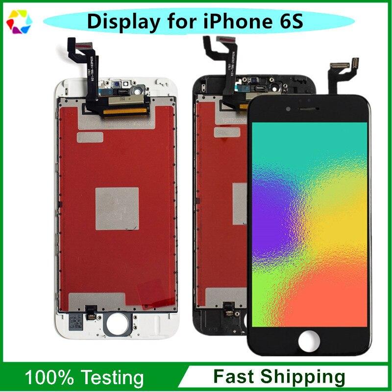 10 pièce AAA + Qualité LCD pour iPhone 6 S Affichage Écran + Tactile Digitizer Assemblée 4.7 pouces, noir Blanc