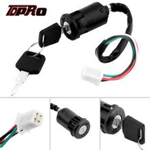 TDPRO Universal Motorcycle 4 Wire Ignition Key Switch Lock For Chinese Quad ATV 50cc 70cc 90cc 110cc 125cc Dirt Pit Bike Scooter mayitr black motorcycle ignition switch lock key 4 wire ignition key switch for yamaha suzuki honda ktm dirt bike atv