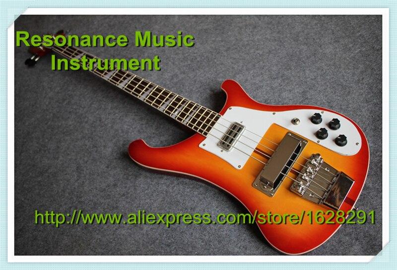 Instrument de musique chinois Ricken/Rick 4003 basse 4 cordes guitare électrique CS Cherry Sunburst Kits de guitare personnalisés disponibles