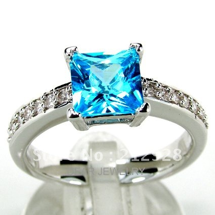 moq 150 silver jewelry blue topaz color stone ring wedding ring jewelry mix 3 color ring - Colored Wedding Rings