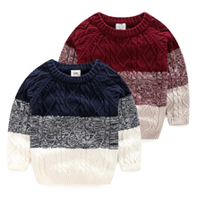 Ребенок цвет свитер 2016 осенью и зимой Хан новый мальчик дети дети повседневная вязать пальто my-0950