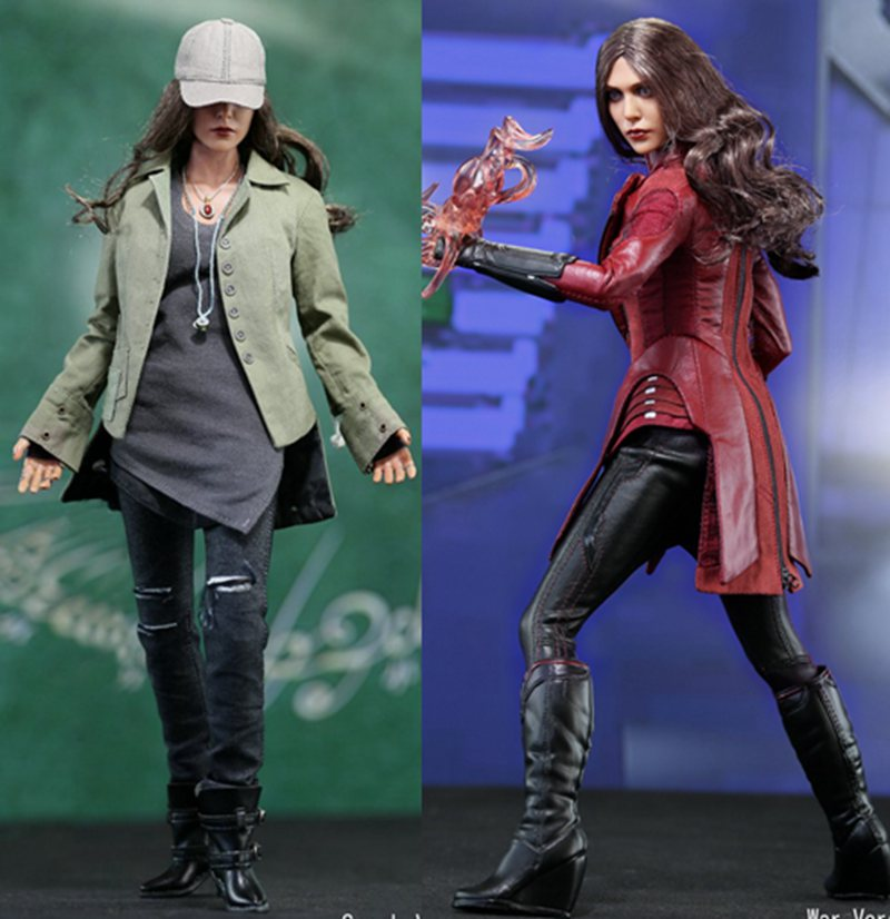 1/6th scale figure Captain America Civil War or Avengers II Scarlet Witch 12 Action figure doll Collectible Model plastic toy 1 6 scale male head sculpts model toys downey jr iron man 3 captain america civil war tony with neck sets mk45 model collecti f