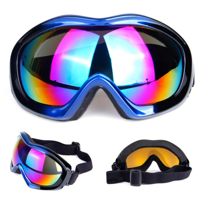 Pro Unisex Ski Snowboard Goggles Single Layer Spherical Surface UV400 Anti-fog Windproof Winter Sport Skiing Cycling Goggles