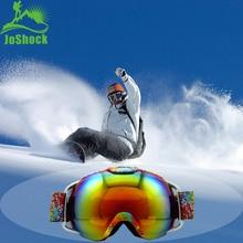 JOSHOCK Brand Ski Goggles Double Layers UV400 Anti-fog Big Mask Glasses Skiing Snowboard Adult Equipment