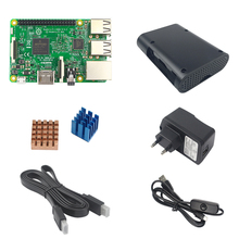 Raspberry Pi 3 Kit with Raspberry Pi 3 Model B+5V 2.5A Power adapter Supply with switch cable+Heatsinks+ABS Case+1.5 HDMI cable