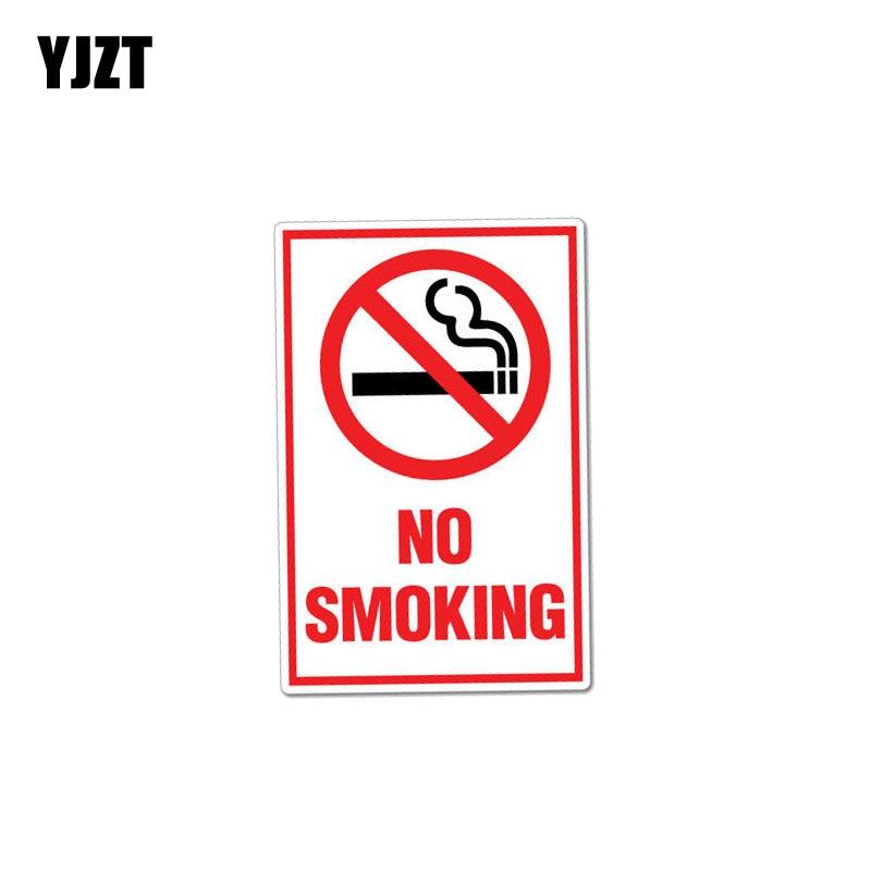 YJZT 8,2 см * 12,7 см креативный Предупреждение ющий стикер для автомобиля, наклейка для курения из ПВХ 12-0998