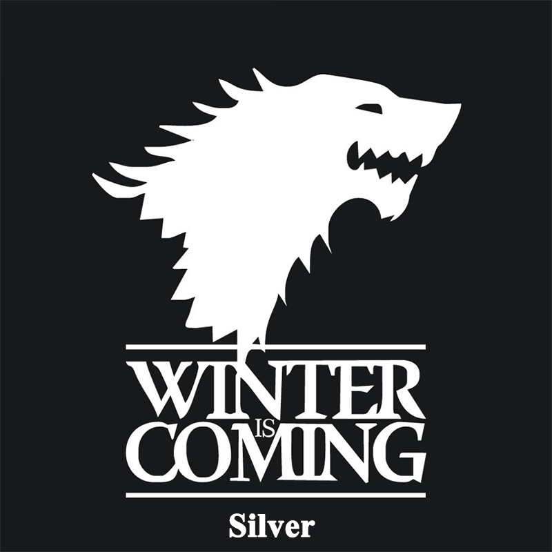 1 stk SEEYULE Vinteren kommer Wolf Game of Thrones Bilklistermærke - Udvendigt biltilbehør - Foto 6