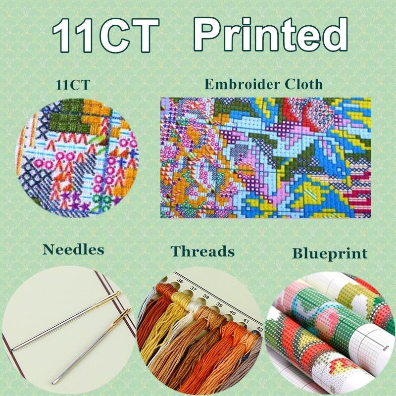 Merry Christmas Gifts Cross Stitch Printed Cross Stitch Needlework Patterns Word Decor Cross Stitch Dmc Thread