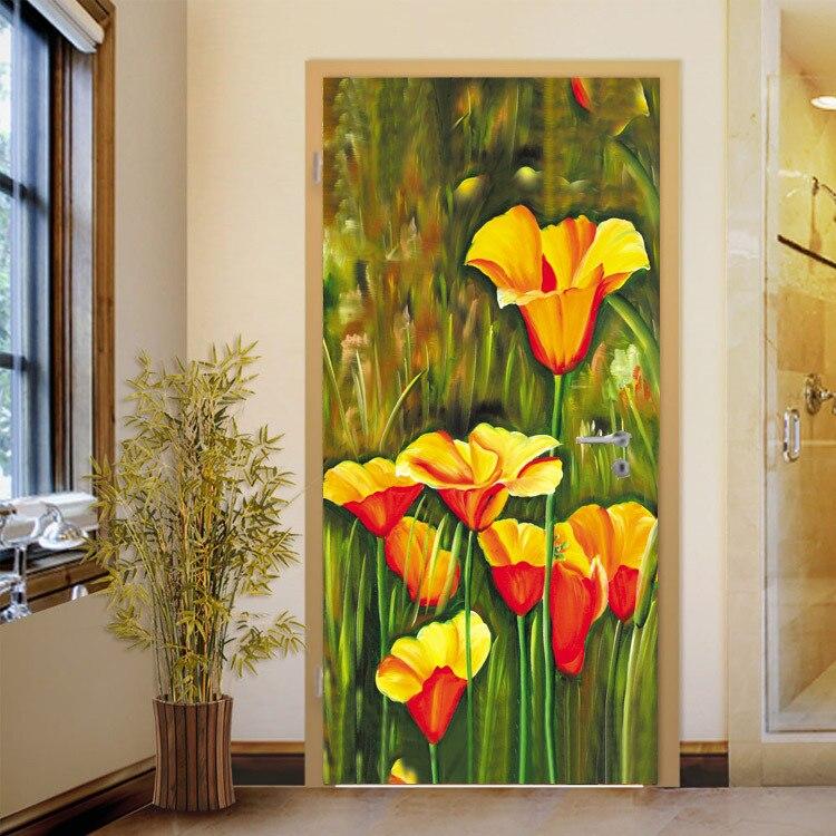 Custom Vintage Flowers Wallpaper Abstract Painting Wall Mural Silk Photo  Wallpaper Room Decor Corridor Gallery Door Art Bedroom In Wallpapers From  Home ... Part 98