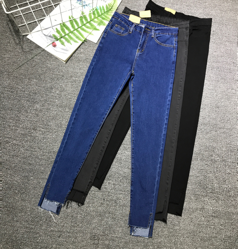 Cheap Wholesale 2018 New Autumn Winter Hot Selling Women's Fashion Casual  Denim Pants G331