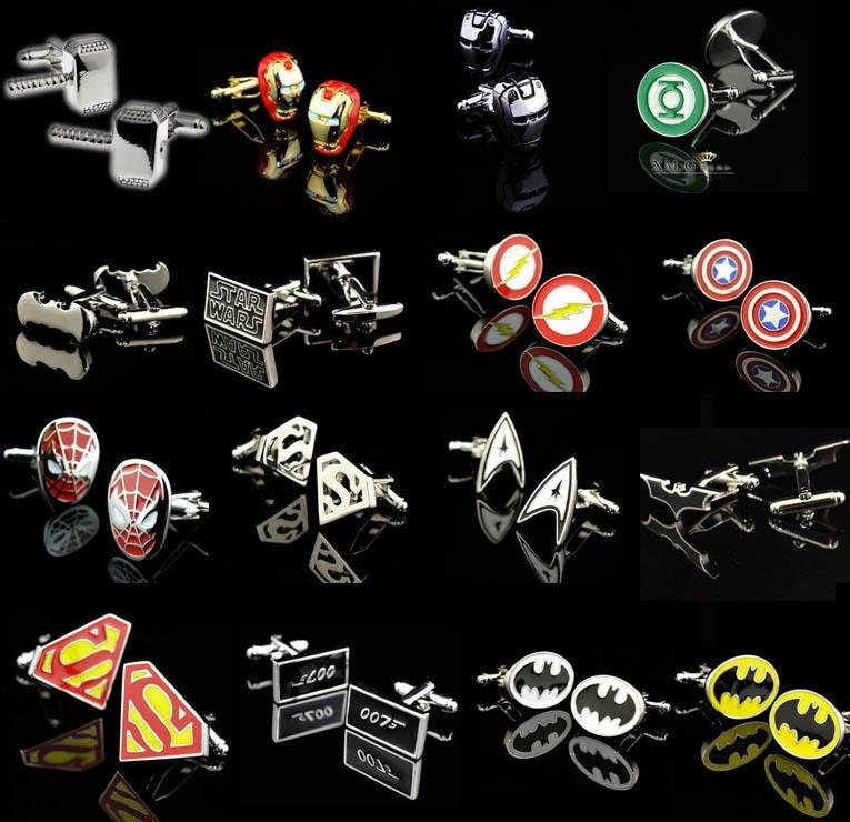 Bezmaksas piegāde Jaunie Zirnekļcilvēka aproču pogas Dažādi Superheroes modeļi Kvalitatīvs misiņa trakums tieši rūpnīcas piegādes aproces saites