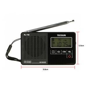 Image 3 - TECSUN PL 118 Ultra Light Mini Radio PLL DSP Banda FM Radio Internet Portatil Am Fm Radio FM:76.0 108MH /87.0 108MHz
