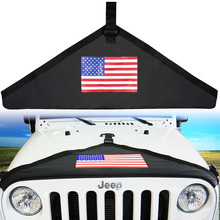 Chuang Qian Black Front Hood Cover with Color Flag Style Hood Protective Bra Cover Kit For Jeep Wrangler JK 2007-2018 цены