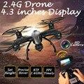 -Tempo Real FPV Helicóptero de Controle Remoto 100 m Distância De Controle RC Drones UFO 2.4G 4CH 6 Axis Gyro Quadcopter pairar 509