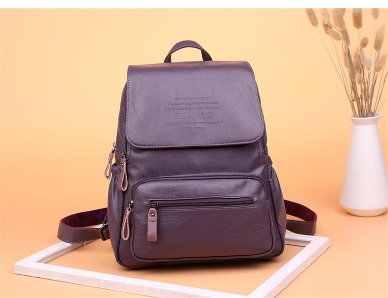 HTB1k0CjRYrpK1RjSZTEq6AWAVXaN 2019 Women Leather Backpacks High Quality Ladies Bagpack Luxury Designer Large Capacity Casual Daypack Sac A Dos Girl Mochilas