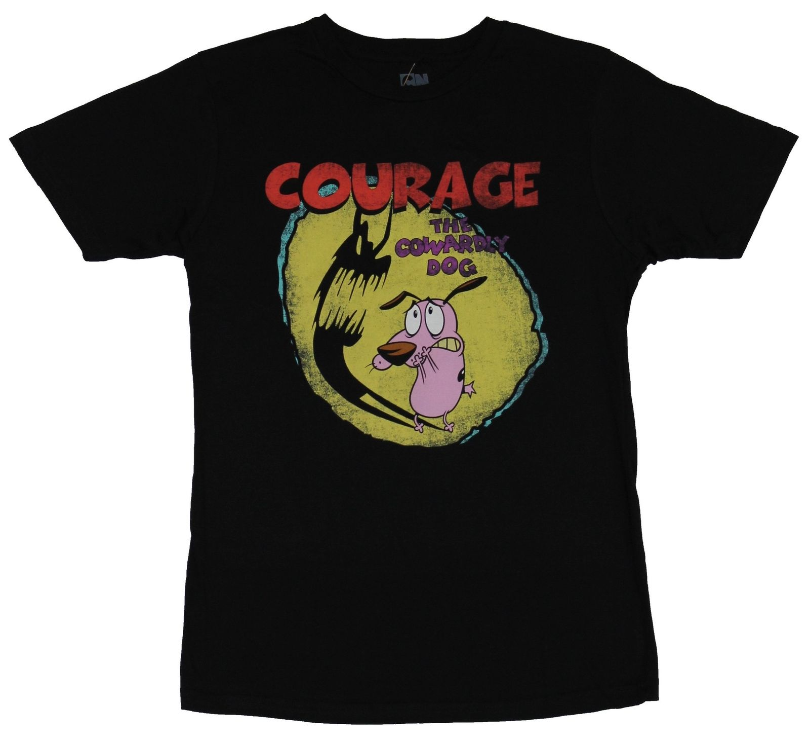 Courage the Cowardly Dog RUNNING SCARED Adult T-Shirt All Sizes