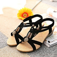 Rome Style Women Shoes Sandals Zapatos Mujer 2016 New Arrivals Fashion Summer Fresh Wedges Sandals