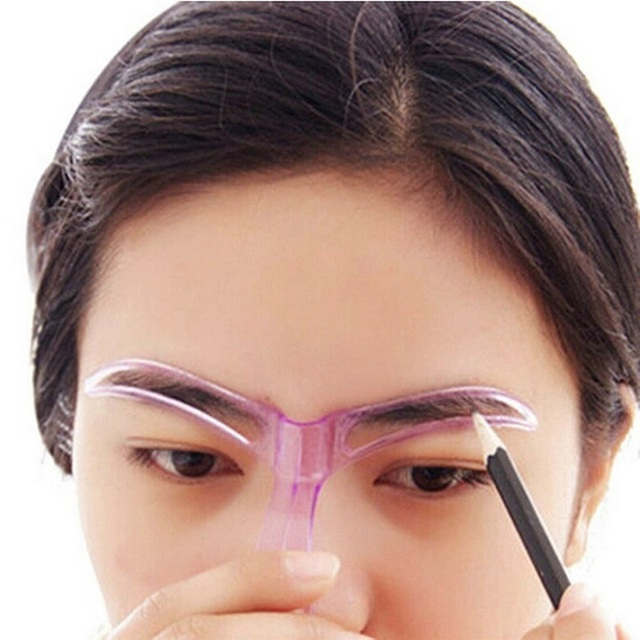 1Pcs Professional Makeup Eyebrow Stencils Drawing Eyebrow Template Stencil for Eyebrow Shaper Makeup Stencil Mold Cosmetic Tool