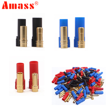 Register shipping 9Pairs lot AMASS XT150 Connector Adapter Male Female Plug 6mm Gold Banana Bullet Plug
