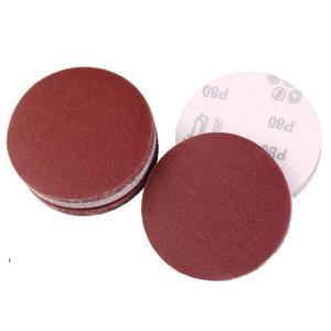 "Image 4 - 40 יחידות אדום עגול נייר זכוכית מלטש דביקה נייר סנדר 5 ""125 מ""מ גריסים 320/400/600/800/1000/1200/1500/2000"