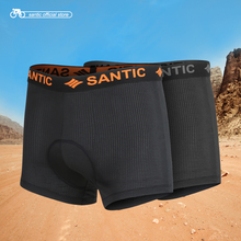Santic Men Cycling Padded Underware Shorts Pro Coolmax 4D Pad Shockproof SANTIC R-FEEL Anti-pilling Road MTB Riding Short KS008 цена